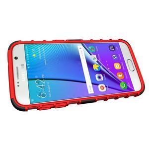 Outdoor odolný obal pre mobil Samsung Galaxy S7 - červený - 5