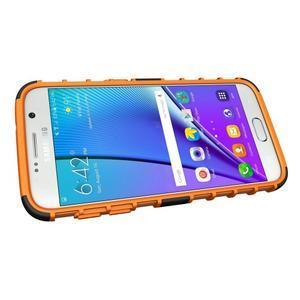 Outdoor odolný obal na mobil Samsung Galaxy S7 - oranžový - 5
