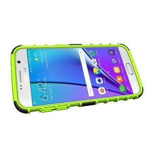 Outdoor odolný obal pre mobil Samsung Galaxy S7 - zelený - 5