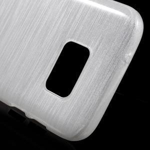 Brush gélový obal pre mobil Samsung Galaxy S7 - biely - 5