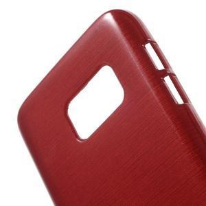 Brush gélový obal pre mobil Samsung Galaxy S7 - červený - 5
