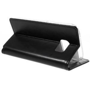 Bluemoon PU kožené puzdro pre mobil Samsung Galaxy S7 - čierne - 5