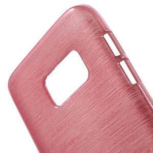 Brush gélový obal pre mobil Samsung Galaxy S7 - ružový - 5