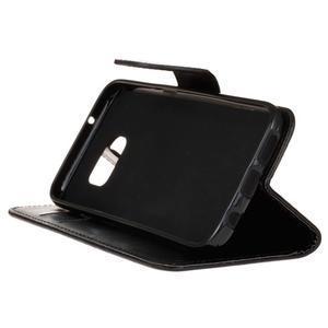Stand peňaženkové puzdro pre Samsung Galaxy S7 - čierné - 5