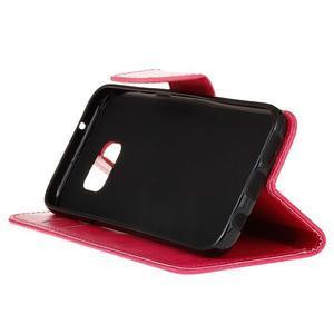 Stand peňaženkové puzdro pre Samsung Galaxy S7 - rose - 5