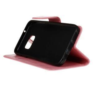 Stand peněženkové pouzdro na Samsung Galaxy S7 - růžové - 5