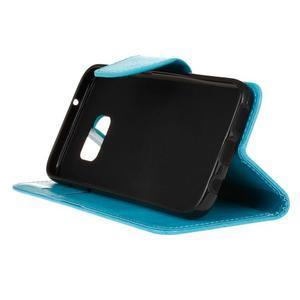 Stand peňaženkové puzdro pre Samsung Galaxy S7 - modré - 5