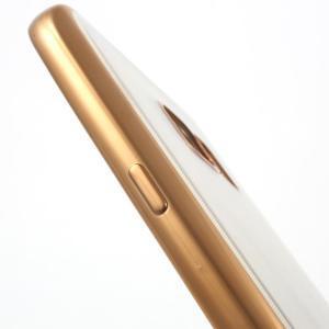 Gelový obal se zlatým rámom pre Samsung Galaxy S7 - 5