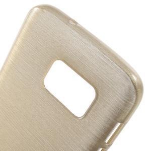 Brush gélový obal pre mobil Samsung Galaxy S7 - zlatý - 5