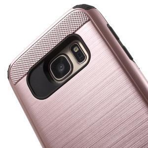Dvoudílný odolný kryt na Samsung Galaxy S7 - zlatorůžový - 5