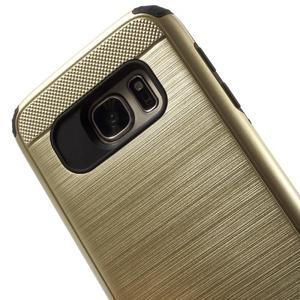 Dvoudílný odolný kryt na Samsung Galaxy S7 - zlatý - 5