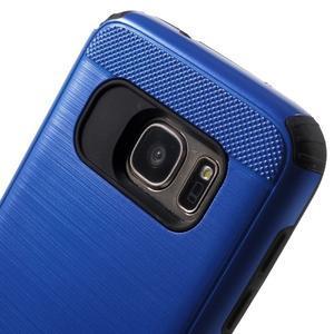 Dvoudílný odolný kryt na Samsung Galaxy S7 - modrý - 5