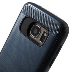 Dvoudílný odolný kryt na Samsung Galaxy S7 - tmavěmodrý - 5