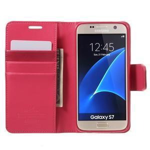 Sonata PU kožené pouzdro na Samsung Galaxy S7 - rose - 5
