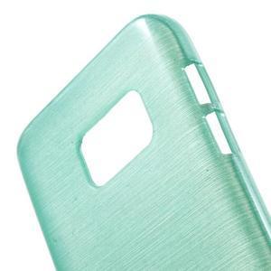 Brush gélový obal pre mobil Samsung Galaxy S7 - cyan - 5
