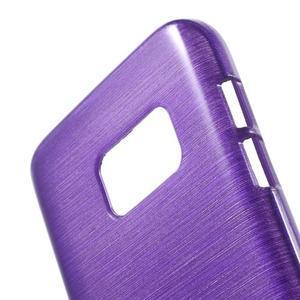 Brush gélový obal pre mobil Samsung Galaxy S7 - fialový - 5