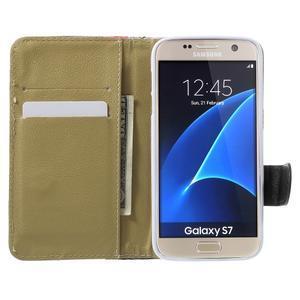 Flower puzdro pre mobil Samsung Galaxy S7 - modré pozadí - 5