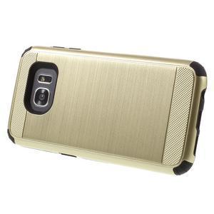 Odolný dvoudílný obal na Samsung Galaxy S7 edge - zlatý - 5
