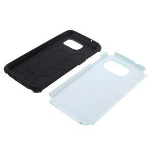 Odolný dvoudílný obal na Samsung Galaxy S7 edge - azurový - 5