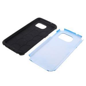 Odolný dvoudílný obal na Samsung Galaxy S7 edge - modrý - 5