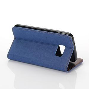 Jeans puzdro pre mobil Samsung Galaxy S7 edge - modré - 5