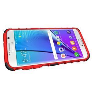 Odolný outdoor kryt na Samsung Galaxy S7 edge - červený - 5