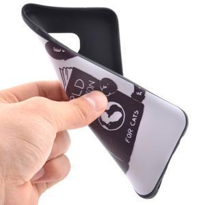 Backy gélový obal pre Samsung Galaxy S7 edge - mačka - 5