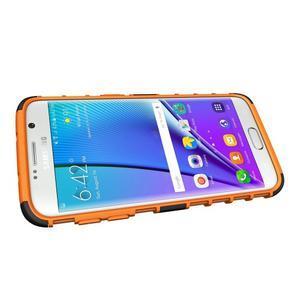 Odolný outdoor kryt na Samsung Galaxy S7 edge - oranžový - 5