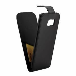 Flipové puzdro pre mobil Samsung Galaxy S7 edge - čierne - 5