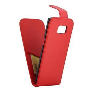 Flipové puzdro pre mobil Samsung Galaxy S7 edge - červené - 5