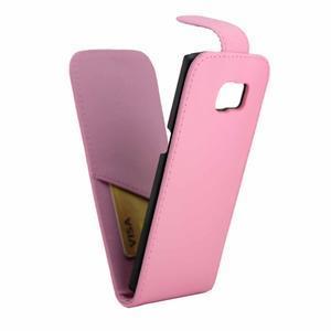 Flipové puzdro pre mobil Samsung Galaxy S7 edge - ružové - 5