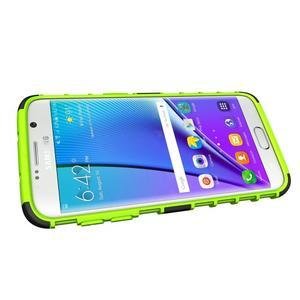 Odolný outdoor kryt na Samsung Galaxy S7 edge - zelený - 5