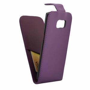 Flipové puzdro pre mobil Samsung Galaxy S7 edge - fialové - 5
