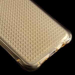 Glitter gelový obal na Samsung Galaxy S7 edge - zlatý - 5