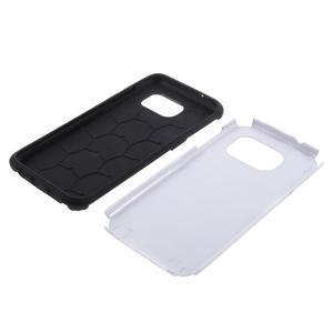 Odolný dvoudílný obal na Samsung Galaxy S7 edge - stříbrný - 5