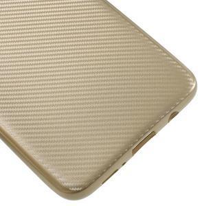 Flexi gélový obal so štruktúrou na Samsung Galaxy S9 Plus - zlatý - 5