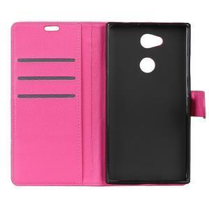 Litchi PU kožené púzdro na Sony Xperia L2 - rose - 5