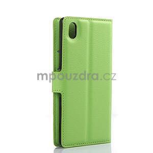 Zelené PU kožené pouzdro na Sony Xperia M4 Aqua - 5