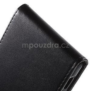 Čierne flipové puzdro pre Sony Xperia M4 Aqua - 5
