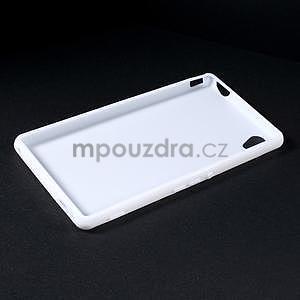 Biely gélový obal pre Sony Xperia M4 Aqua - 5