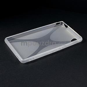 transparentné gélový obal pre Sony Xperia M4 Aqua - 5