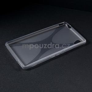 sivý gélový obal pre Sony Xperia M4 Aqua - 5