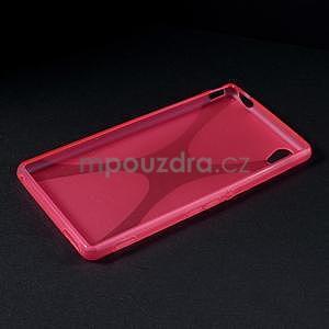 Rose gélový obal pre Sony Xperia M4 Aqua - 5