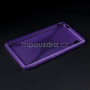 Fialový gélový obal pre Sony Xperia M4 Aqua - 5