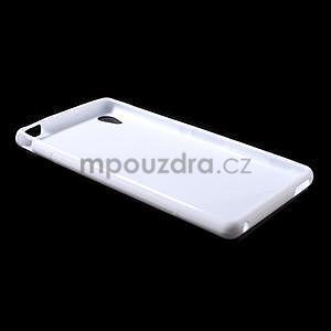 Biely s-line pružný obal pre Sony Xperia M4 Aqua - 5