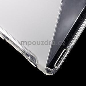 transparentné s-line pružný obal pre Sony Xperia M4 Aqua - 5