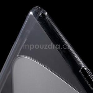 Šedý s-line pružný obal na Sony Xperia M4 Aqua - 5