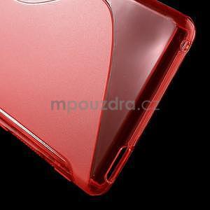 Červený s-line pružný obal na Sony Xperia M4 Aqua - 5