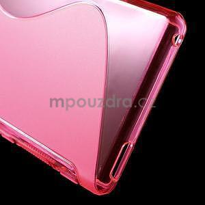 Rose s-line pružný obal pre Sony Xperia M4 Aqua - 5