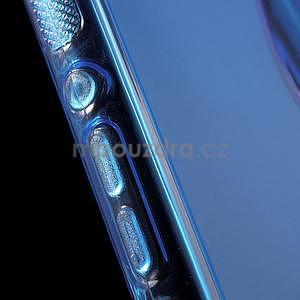 Modrý s-line pružný obal pre Sony Xperia M4 Aqua - 5